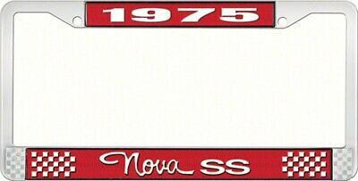 OER LF3567503C 1975 Nova SS License Plate Frame Style 3 Red