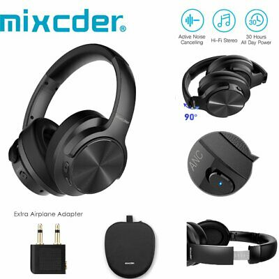 Mixcder Wireless Bluetooth Headphones Foldable Headset Noise Cancelling With Mic