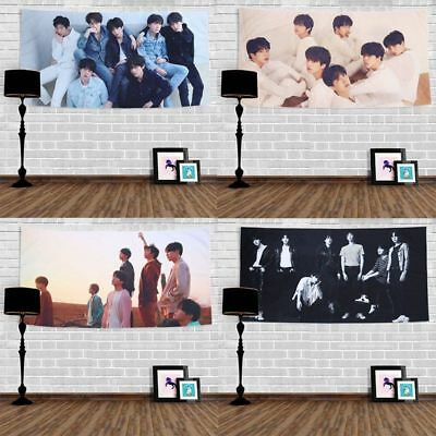 KPOP BTS Bangtan Boys Wall Hanging Tapestry Beach Blanket Home Decor New UK