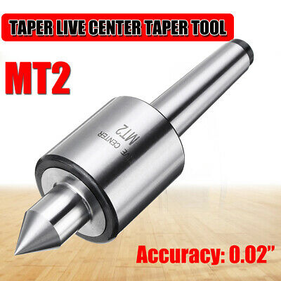MT2 Morse Taper Rotary Live Woodworking Tapered Turn Center Heavy Duty Chuck