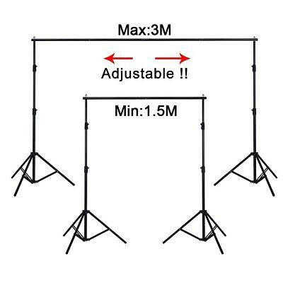 Photography Studio Backdrop Stand 3x2m Portable Background Support Stand Kit