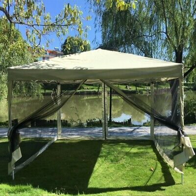 Gazebo Canopy Pop Up Tent Mesh Screen Garden Shade Party Wedding 3 x 3m Foldable