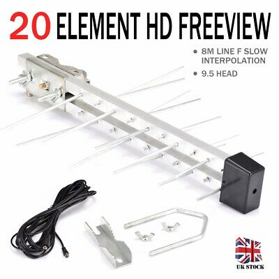 20 Element Digital TV Aerial Freeview HD Antenna Loft / Outdoor Ariel Arial 4G