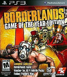 Borderlands -- Game of the Year Edition (Sony PlayStation 3, 2010) DISC IS MINT