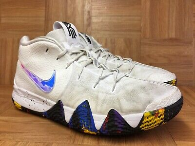 first rate 46d8e 3dba9 RARE🔥 NIKE KYRIE 4 IV NCAA March Madness Sz 15 White Multicolored  943806-104 LE