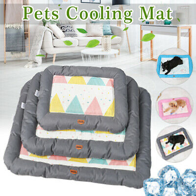 🔥 Dog Cooling Pad Pet Cat Mat Mattress Chilly Non-Toxic Summer Cool Bed Cushion