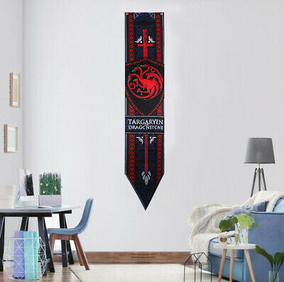 Game of Thrones House Targaryen Hanging Banner Flag 34x168cm Gift Home Decor
