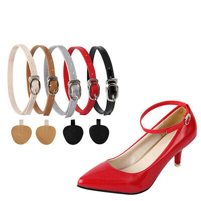 1 Pair Detachable PU Leather Shoe Belt Straps Band for Holding Loose High Heels