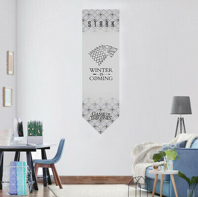 Game of Thrones House Stark Hanging Banner Flag 46x150cm Fans Gift Home Decor