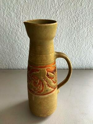 Collectable Vintage Signed Australian Pottery Decorative Tall Jug Vase