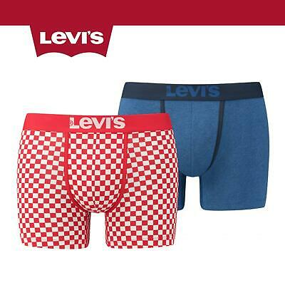 Levis 200SF 2 Pack Checkerboard Boxer Shorts Chinese Red