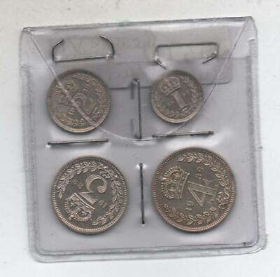 1939 George VI silver Maundy set in case