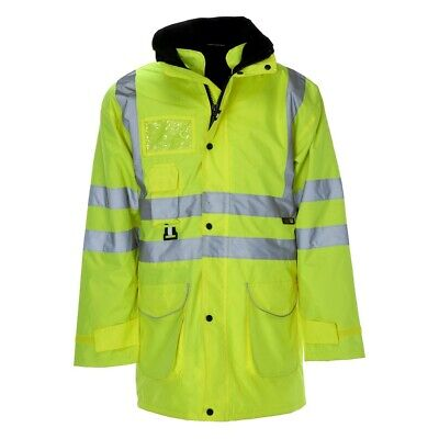 Supertouch ST Hi Vis 5 in 1 Security Bodywarmer & Parka Jacket LARGE H3 SB15