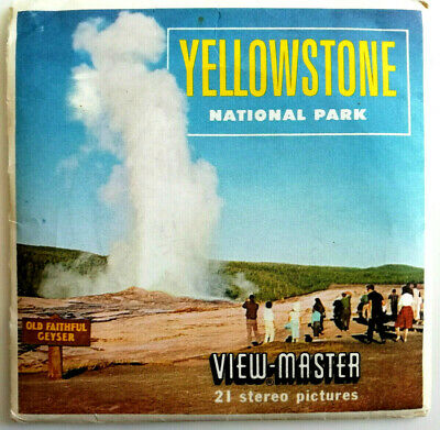 3x VIEW MASTER 3D REEL | YELLOWSTONE | NATIONAL PARK | USA | CANADA | PACK A 306