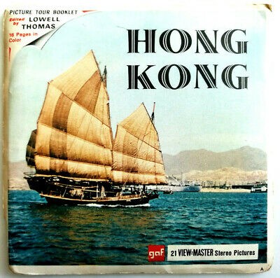 3x VIEW MASTER 3D REEL | HONG KONG | + BOOKLET | ASIA | BRITISH CROWN COLONY