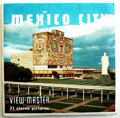 3x VIEW MASTER 3D REEL | MEXICO CITY |  NATIONS STATES WORLD SERIES | PACK B 002