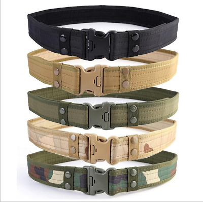Men Military Belt Tactical Army Hunting Outdoor Waistband Nylon Training Belt