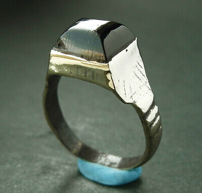 BEAUTIFUL GENUINE ANCIENT VIKING BRONZE RING - wearable -