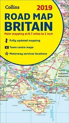 2019 Collins Map of Britain by Collins Maps 9780008272715   Brand New