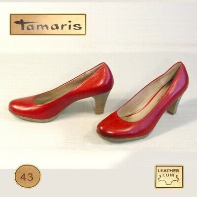 reputable site 22525 c3c9c TAMARIS SCHUHE DAMEN PUMPS Gr 43 = 10 LEDER rot *** TOP ***