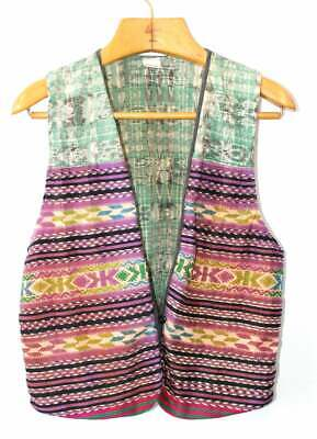 Vintage 70's Vest HUIPIL Hand Made in GUATEMALA Top Embroidered Cottage Industry