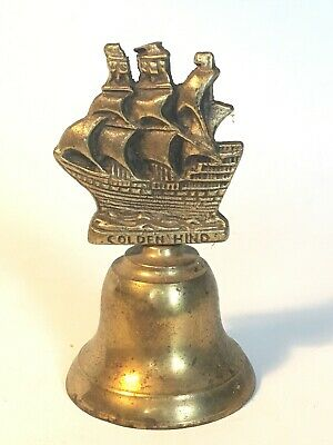 Brass Nautical Bell With Ship