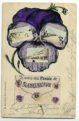Cpa Ma Pensee De Blankenberghe Wenduyne 29.07.1907 / Mont-St.martin France