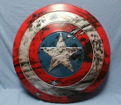 """24"""" Adult Captain America Shield Prop with Battle Damage for Cosplay or Display"""