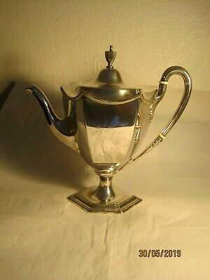 A Lovely Daniel & Arter EPNS 9 inches tall coffee pot, dated 1902, Hard Soldered