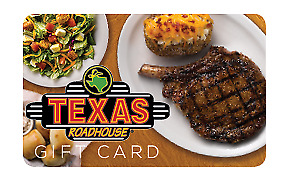 Texas Roadhouse Gift Card $300 - Free Shipping