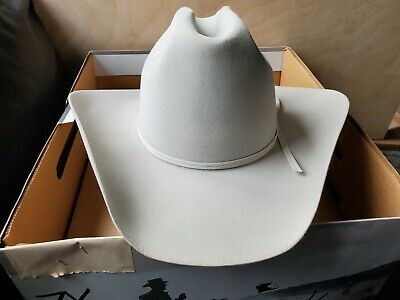 9df61ad45d7117 VINTAGE STETSON COWBOY Hat 4X Beaver Fur Chocolate 7 3/8 Never Worn ...
