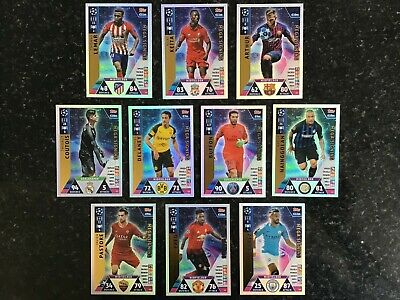 Match Attax Uefa Champions League 2018/19 Full Set Of All 10 Mega Signings Mint