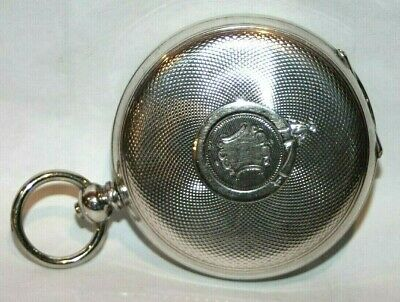 Antique Swiss 1880'S Cuivre Coin Silver Open Face Pocket Watch Case.         #30