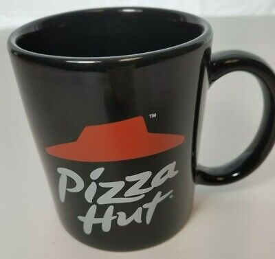 Pizza Hut Mug Black Large Single Logo - Perfect for home or office