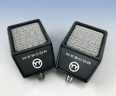 Pair of Vintage WEBCOR MICROPHONES New Old Stock NOS!