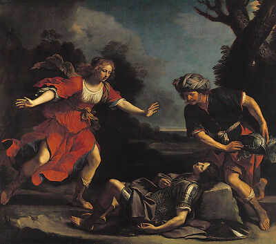 """oil painting handpainted on canvas """"Erminia Finding the Wounded Tancred """"10341"""