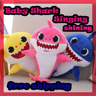 Toys Baby Shark Song Music Plush Toy Singing Gift Kids Pinkfong Doll English Son