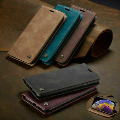 For Apple iPhone Xs Max XR 7 8 6 Plus 5 SE Luxury Leather Card Holder Case Cover
