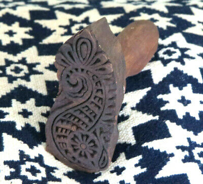 Primitive Farmhouse wood SEAHORSE Butter Mold Stamp Press Ink Stamp NEAT DESIGN!