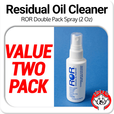 2 x ROR Professional Lens Cleaner - 2oz Spray Bottle (Residual Oil Remover)