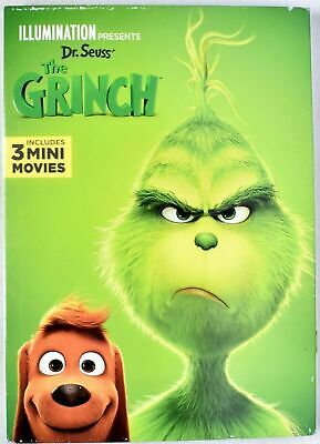 Dr Seuss' THE GRINCH 2019 DVD With 3 Mini Movies >NEW<