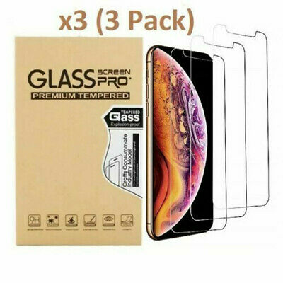 For iPhone 7 8 Plus X XS XR XS Max Premium Tempered Glass Screen Protector 3PACK