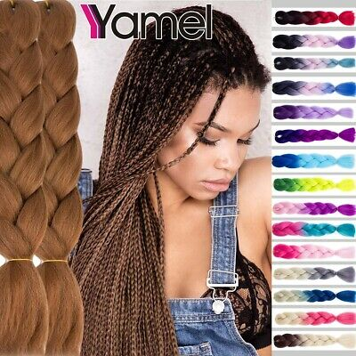 Ombre Dip Dye Kanekalon Jumbo Braiding Hair Extensions Synthetic Twist Braids US