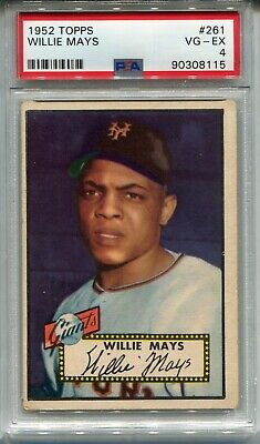 1952 Topps 261 Willie Mays New York Giants Mint Reprint Rookie Card