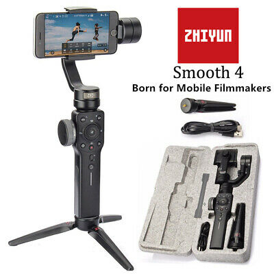 CA Stock NEW Zhiyun Smooth 4 3 Axis Handheld Gimbal Stabilizer for Smartphone