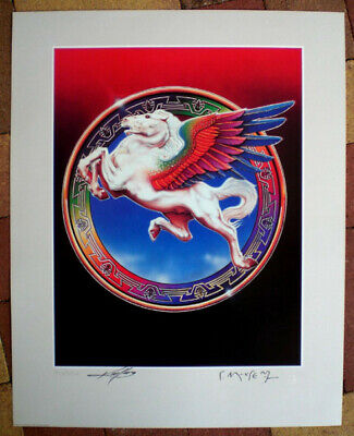 STEVE MILLER BAND *HAND SIGNED* LITHOGRAPH by MOUSE & KELLEY *BOOK OF DREAMS*