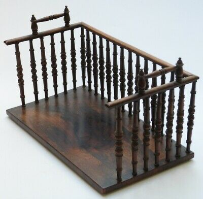 Antique 19Th Century Rosewood Book Trough / Book Stand