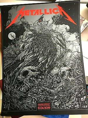 🔥 METALLICA KOLN COLOGNE GERMANY 2019 SE #'D Screen Print Poster KEN TAYLOR