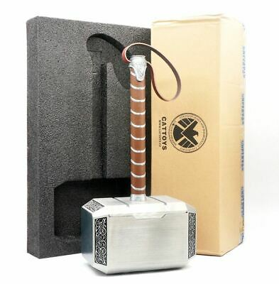Cattoys Full Metal 1:1 Scale The Avengers Thor Mjolnir Hammer With base
