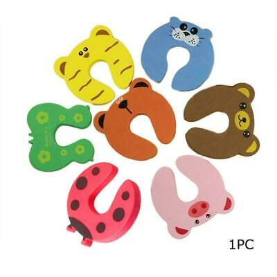 1pcs Children Baby Safety Cartoon Security Door Stopper Pinch H Clamp Clip K5S2